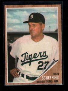 【送料無料】スポーツ メモリアル カード #ボブトラ1962 topps 416 bob scheffing mg tigers nm lh5964