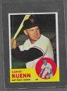 【送料無料】スポーツ メモリアル カード #1963 topps baseball 30 harvey kuenn exmt *5303