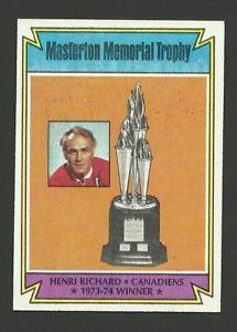 【送料無料】スポーツ メモリアル カード アンリーリチャードマスタートントロフィー197475トップスホッケーカード243 nmm