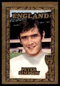 ホビー・スポーツ・美術, トレーディングカード  abc1970simpsonaamp;bc world cup footballers 1970 peter simpson arsenal