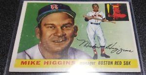 【送料無料】スポーツ メモリアル カード 1955トップス150マイクヒギンズmg teambostonレッドソックス1955 topps 150 mike higgins mg teamboston red sox