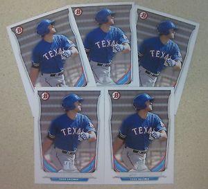 【送料無料】スポーツ メモリアル カード 5 joey gallo rookie card lot2014bowman draft top prospect tp80 texas rangers5 joey gallo rookie card lot 2014 bowman draft