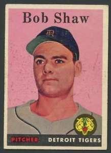 【送料無料】スポーツ メモリアル カード #ボブショウタイガース1958 topps 206 bob shaw exex rc rookie tigers 23999