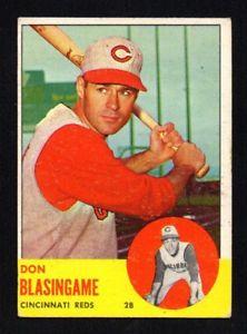 【送料無料】スポーツ メモリアル カード don blasingame1963topps518 vgexcellentdon blasingame reds 1963 topps 518 vgexcellent画像