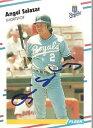 【送料無料】スポーツ メモリアル カード カンザスシティーロイヤルズmlb1988サラザールサインfleer1988 angel salazar autograph fleer signed in person kansas city royals mlb