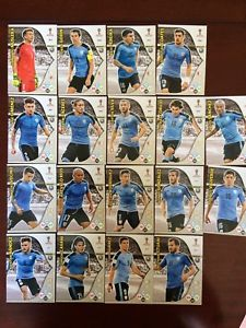 トレーディングカード・テレカ, トレーディングカード  panini adrenalyn xl world cup2018 uruguay 18card setpanini adrenalyn xl world cup 2018 uruguay 18 card set