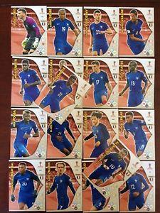 トレーディングカード・テレカ, トレーディングカード  panini adrenalyn xl world cup2018 france 18card setpanini adrenalyn xl world cup 2018 france 18 card set