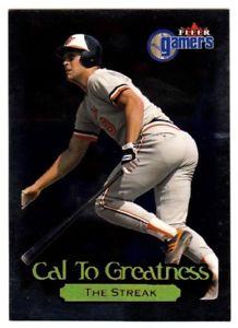 【送料無料】スポーツ メモリアル カード ゲーマーオリオールズカードカルリプケン#2000 fleer gamers cal to greatness orioles baseball card cal ripken 6 of 15画像