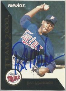 【送料無料】スポーツ メモリアル カード ミネソタツインズpat mahomes1992ピナクルサインminnesota twins pat mahomes autographed 1992 pinnacle