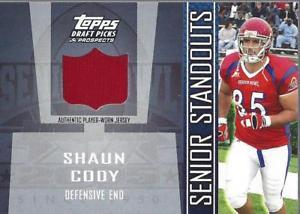 【送料無料】スポーツ メモリアル カード ドラフトシニアジャージーショーンコーディジャージー2005 topps draft senior standout jersey sssc shaun cody jersey nmmt