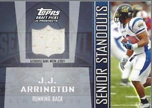 【送料無料】スポーツ メモリアル カード ドラフトシニアジャージーアーリントンジャージー2005 topps draft senior standout jersey ssja jj arrington jersey nmmt