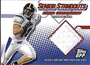 【送料無料】スポーツ メモリアル カード ドラフトシニアチャドグリーンウェイジャージー2006 topps draft senior standout jsy sscg chad greenway jersey