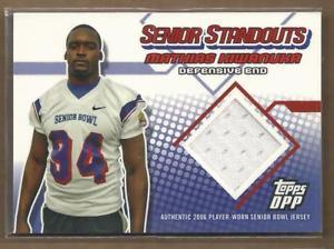 【送料無料】スポーツ メモリアル カード ドラフトシニアジャージー2006 topps draft senior standout jsy ssmk mathias kiwanuka jersey