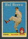 【送料無料】スポーツ メモリアル カード 1958トップス381ハルブラウンexexコウライウグイス218491958 topps 381 hal brown exex orioles 21849