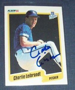 【送料無料】スポーツ メモリアル カード 1990カンザスシティーロイヤルズチャーリーleibrandtサインカード1990 fleer kansas city royals charlie leibrandt hand signed autographed card