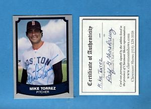 【送料無料】スポーツ メモリアル カード マイクボストンレッドソックスサインカード1989 legends mike torrezboston red sox autographed cardnm