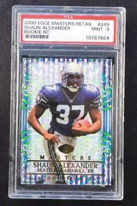 【送料無料】スポーツ メモリアル カード ショーンアレキサンダーシアトルシーホークスコレクタエッジカードshaun alexander seattle seahawks 2000 collector's edge rc psa graded 9 card 249