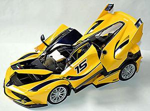 車・バイク, レーシングカー  ferrari fxxk 15 f140 v12 gelb yellow 118 bburago