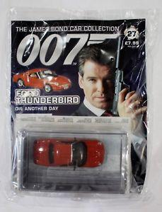 【送料無料】模型車 モデルカー スポーツカー ジェームズボンドカーコレクションフォードサンダーバードjames bond car collection 007 issue 27 ford thunderbird die another day