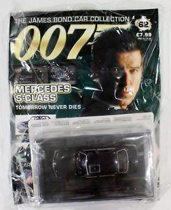 【送料無料】模型車 モデルカー スポーツカー ジェームズボンドカーコレクションメルセデスクラスjames bond car collection 007 issue 62 mercedes sclass tomorrow never dies