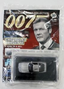 【送料無料】模型車 モデルカー スポーツカー ジェームズボンドカーコレクションシボレーコルベットビューjames bond car collection 007 issue 37 chevrolet corvette a view to a kill