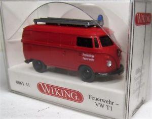 【送料無料】模型車 モデルカー スポーツカー バイキングフォルクスワーゲンボランティアwiking 187 vw t1 transporter ovp 0861 41 freiwillige feuerwehr