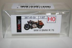 【送料無料】模型車 モデルカー スポーツカー モデルartitec 38745gr 187 h0 wwii bmw r 75 fertigmodell neu
