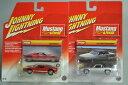 【送料無料】模型車モデルカースポーツカージョニームスタングフォードサンダーバード2 johnny lightning 2005 mustang gt amp; 1968 ford thunderbird 164