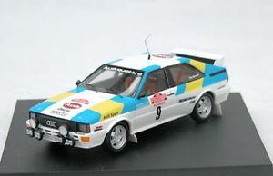 【送料無料】模型車 モデルカー スポーツカー アウディクワトロラリーカーモデルサンレモtrofeu 1606 audi quattro model rally car 1st san remo1982 stig blomqvist 143rd