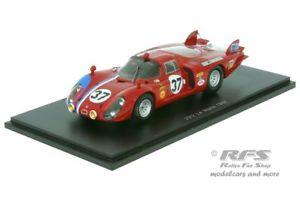 【送料無料】模型車 モデルカー スポーツカー アルファロメオルマンスロットメーカースパークalfa romeo t332 24h le mans 1968 pilette slotemaker 143 spark 4369