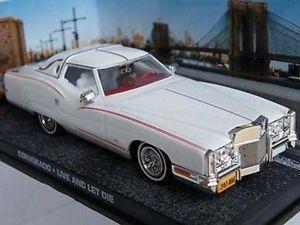 【送料無料】模型車 モデルカー スポーツカー ジェームスボンドコルボライブサイズjames bond corvorado live and let die car 143rd size white issue t3412z