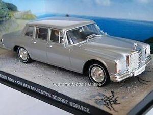 【送料無料】模型車 モデルカー スポーツカー メルセデスシークレットサービス#ジェームズボンドjames bond mercedes 600 on her majestys secret service 143rd car issue k896q~~