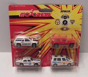 車・バイク, レーシングカー  majorette novacar series emergency rescue 4vehicle set 100 series rare