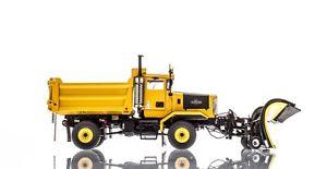 【送料無料】模型車 モデルカー スポーツカー チルトオシュコシュシリーズスノープラウtwh 150 camion chasseneige oshkosh p series snow plow 4x4 jaune yellow