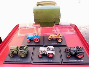 【送料無料】模型車 モデルカー スポーツカー アシェットアトラスコレクションlot de 5 tracteurs collection hachette atlas neufs en boite norev solido