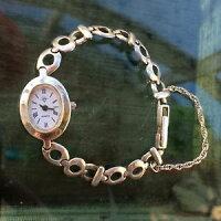 【送料無料】neues angebotvintage 1990's ladies 925 sterling silver bracelet watch
