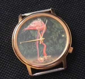 【送料無料】flamingo fashion watch from 1980s singapore jurong bird park