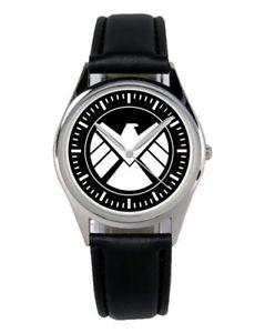 【送料無料】vintage shield logo motiv geschenk uhr b1240