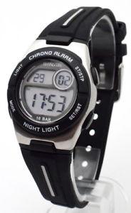 腕時計, 男女兼用腕時計 sinar kinder jugend sportchrono mit alarm 10 atm wr neu refnr xe581