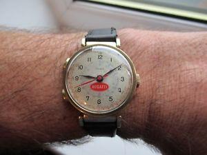 【送料無料】bugatti stopwatch telemeter articulated lugs 1940s 50s very rare just service