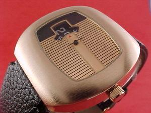 【送料無料】traditional dress digital jump hour 60s 70s led lcd era vintage retro watch g