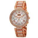 【送料無料】 womens burgi bur123rg swiss multifunction crystal bezel amp; bracelet watch