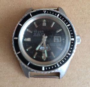 【送料無料】agon vintage diver watch * for parts* taucheruhr vintage
