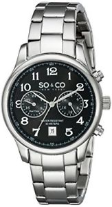 【送料無料】soamp;co york mens 50312 monticello quartz gmt stainless steel watch