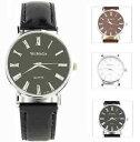 【送料無料】womage mens classic roman italian numeral formal quartz watch colour choice