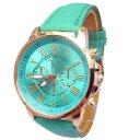 【送料無料】fashion watch women pu leather quartz wrist watches hour montre femme relog