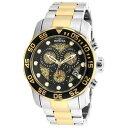 【送料無料】invictaa 19839 chronograph two tone yellow gold pro diver 300 m brand