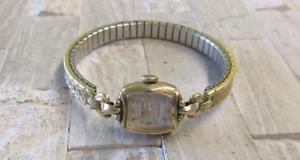 【送料無料】vintage gruen precision 10kt gold filled womens wristwatch 15jewels ~ 6h7431