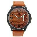 【送料無料】mabz london smart mens brown leather watch