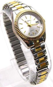 【送料無料】vintage 7 watch times square no numbers, date silver amp; gold tone analog works